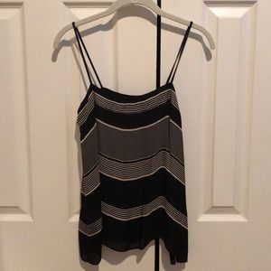 Vince black and beige silk camisole